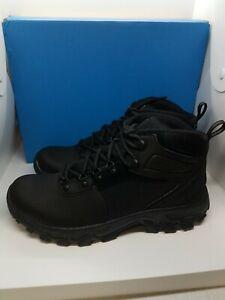 Mens Sz9 Black Columbia Newton Ridge Plus II Waterproof Hiking Boots