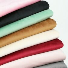 1M Pannesamt Stoff Uni Farbe Material Basteln Sofa Abdeckung Polster