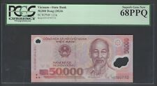 Viet Nam 50000 Dong 2016 P121k Uncirculated Graded 68