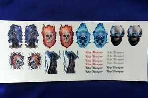 1:50 Scale Clear Inkjet Waterslide Decals The Reaper, Skulls * Code 3 *