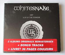 WHITESNAKE...1987 / SLIP OF TOUNGUE..2.CD DIGIPACK NEUF