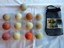 Lot of (11) Used Lacrosse Practice Balls,Powerbolt,Champion, Ua,Bag
