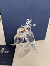 Swarovski Crystal Pair Of Budgies + Box + Coa Love Birds