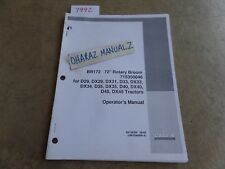 """CASE BRX172 72"""" Rotary Broom D29/33/35/40/45 DX29/31+ Tractor Operator's Manual"""