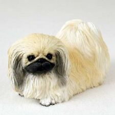 PEKINGESE Dog HAND PAINTED FIGURINE Resin Statue COLLECTIBLE Peke puppy NEW