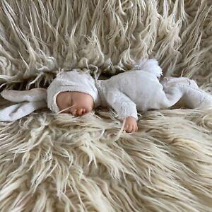 Anne Geddes Baby Bunny Rabbit Doll Beanie Collectible White