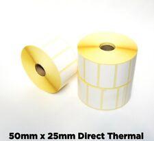 8,000 - Zebra LP2844 - 50 x 25mm etichette termica diretta