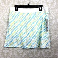 Callaway Large NWT Womens White Green Printed Athletic Tennis Skirt