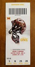 Iowa State Cyclones UNI Panthers Football Ticket 9/5 2015 Stub Northern Iowa