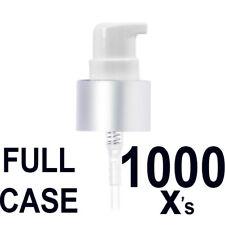 FULL CASE 1,000 qty Silver Bottle Pump Dispenser Lotion Treatment Pumps for Gel