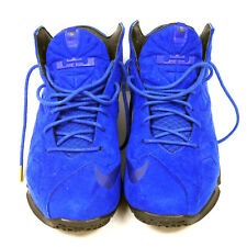 NIKE LEBRON 11 EXT BLUE SUEDE QS SIZE 10.5 SNEAKERS WITH BOX