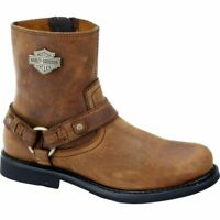 BACK IN STOCK Harley Davidson Men's Scout Riding Boots Leather Brown D95263 UK 9