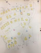 1928 SANBORN BOSTON ROXBURY JAMAICA PLAIN, MA. CHILDREN'S MUSEUM MAP PLAT 18&19