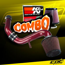 For 99-03 Mitsubishi Galant 3.0L V6 Red Cold Air Intake + K&N Air Filter