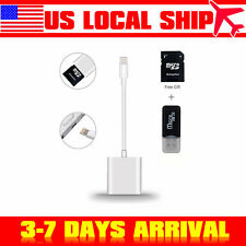 Lighting to SD Card Camera Reader Adapter for iPhone XR/XS/X/8/7/6/6s/Plus/iPad