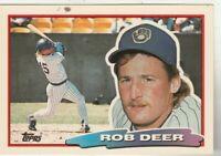 FREE SHIPPING-MINT-1988 Topps Big Milwaukee Brewers  #151 Rob Deer +BONUS CARDS