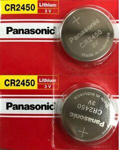 2 X PANASONIC CR2450 3V BATTERIES ECR2450 CR 2450 EXP 2027 ORIGINAL PACKAGING