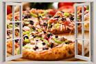 Pizza 3d Window Decal Wall Sticker Home Decor Art Mural Food J20