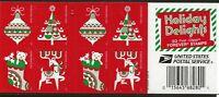 US Scott #5526-29, Booklet Pane 2020 Christmas VF MNH