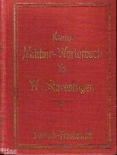 Stavenhagen Kleines Militair Militär Wörterbuch Deutsch Französisch 1898