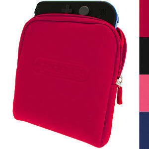 Red Neoprene Sleeve Protective Travel Pouch Carry Case Cover for Nintendo 2DS