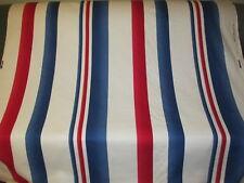 Vintage 1992 RALPH LAUREN Cotton Fabric Nautical Stripe 6 Yards Red White Blue