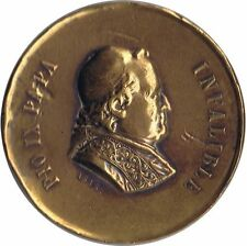 MEDAL MEDALLA CONMEMORATIVA PAPA PIO IX Romería Española al Vaticano 1876 bronce