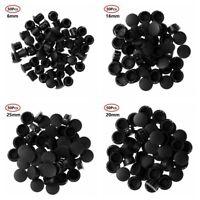 Black Hollow Hole Plugs PVC Tube Pipe Silicone Rubber Plug End Cap 81.3~161.5mm