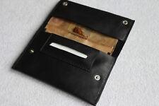 Tabakbeutel Tabaktasche Tobacco Pouch Echtes Leder  schwarz