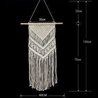Boho Wall Hanging Tapestry Handmade Macrame Woven Cotton Wall Art Wedding Decor