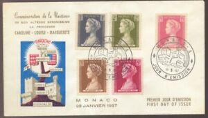 1957 MONACO Princess Caroline Louise Marguerite FDC