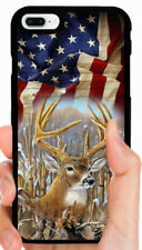 AMERICAN FLAG DEER BUCK CAMO PHONE CASE FOR IPHONE 11 XS MAX XR X 8 7 6S PLUS 5