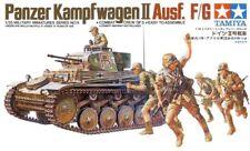 PZ.KPFW II  AUSF F/G W/COMBAT CREW (GERMAN AFRIKA KORPS MKGS)#35009 1/35 TAMIYA