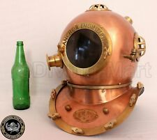 ANTIQUE SCUBA U.S NAVY MARK IV ANCHOR DIVING DIVERS HELMET SOLID STEEL & BRASS