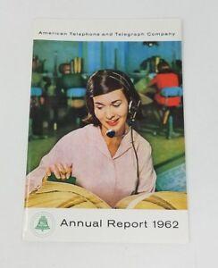 Vintage At&t Annual Report 1962 Americana Telefono E Telegrafo Co Bell Sistema