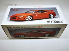 AutoArt 1:18 77357 Nissan Skyline GTR GT-R R34 NISMO R-tune Active Red NEU OVP