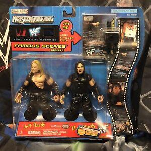 2000 JAKKS Pacific WWF Famous Scenes WrestleMania XVII Jeff & Matt Hardy WWE