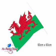 3FT X 2FT WELSH WAVING FLAG Wales Supporter St Davids Day Party Flag 60cm x 90cm