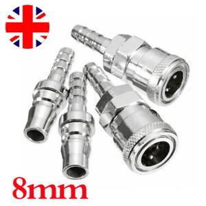 4PCS 8mm Gas Hose Copper Nozzle Quick Release Connector for Motorhome BBQ K
