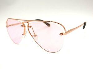 LOUIS VUITTON Monogram Flower Grease Women's Sunglasses Pink Lens Z1174E V-6620