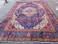 Old tradizionale fatto a mano Tappeto Persiano Orientale Lana Tappeto Grande Blu 351x268cm