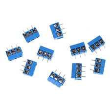 10Pcs KF301-3P Pitch 5.0mm Straight Pin 3Pin Screw Terminal Block Connector IG
