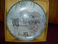 Imperial Jingdezhen Porcelain The Marble Boat Plate China Scenes Palace.