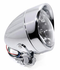 "4"" H4-Scheinwerfer Chrom Klarglas für Harley Kawasaki BMW Chopper Trike Neu °°"