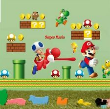 Super Mario Brothers Wall Decal Removable - Game Room Nursery Childs Bedroom