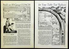 Model Railroad OO Gauge Coach 1935 HowTo Build PLANS Wood & Cardboard