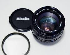 Minolta MC ROKKOR - PF 50mm f1.7 prime lens