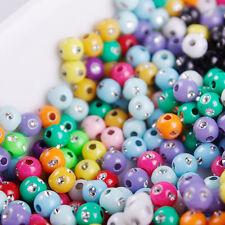 50 Perle Mix Point Argentées 6mm couleur Mixte argentes création bijoux