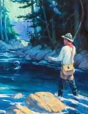 "Man Fishing, ""King of the Pond""by Frank Leonard Stick"