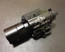 Night Evolution X400U Pistol Light w/ Red Laser Tactical Rail Flashlight - BK